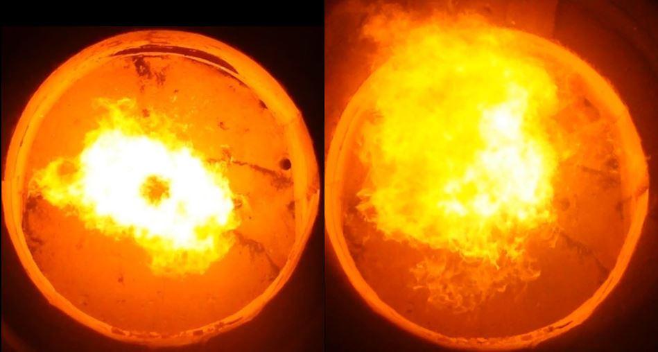 Interior caldera con y sin emulsion
